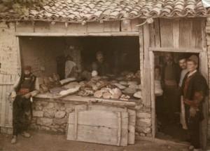 Boulangerie de village en Yougoslavie
