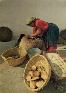 Préparation du pain «Tabouna», Tunisie