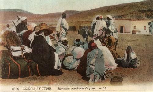 Scénes et types – Marocains marchands de grains. – LL.