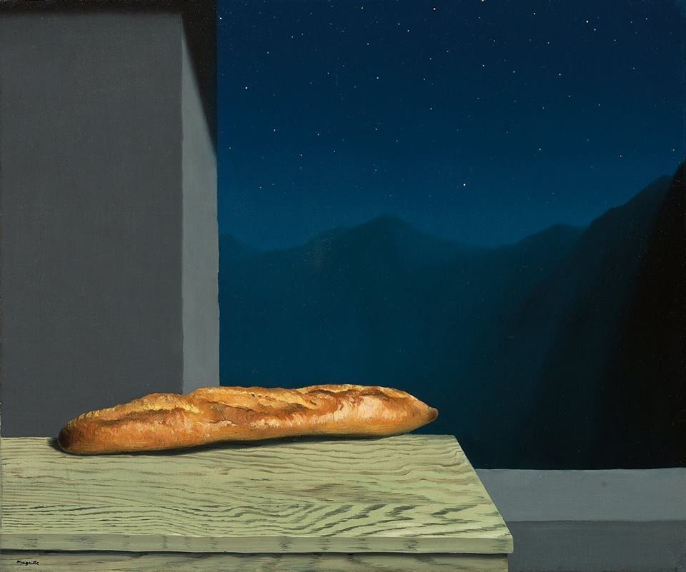 The French baguette in 'L'avenir' by René Magritte (Belgian painter, 1898-1967), 1936